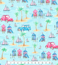 Novelty Cotton Fabric -Beach Time