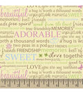 Snuggle Flannel Fabric -Friendship Quotes
