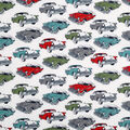 Novelty Cotton Fabric-Antique Cars