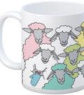 Knit Happy Mug 11oz-Colorful Sheep