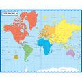 Carson-Dellosa Map of the World Chart 6pk