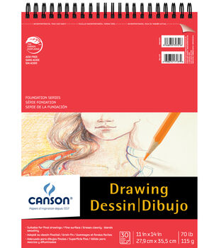 Canson 30 Sheets 11''x14'' Foundation Drawing Pad