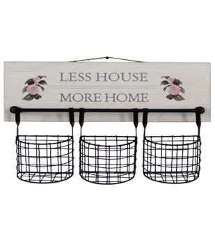 Simply Spring Storage Wall Decor-Less House More Home