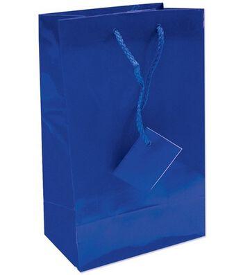 Polylaminate Bags w/Macrame Handle-Medium 12PK MANY COLORS