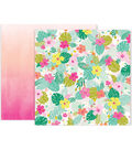 Pink Paislee Confetti Wishes 25 pk 12\u0027\u0027x12\u0027\u0027 Double-Sided Cardstock-#05