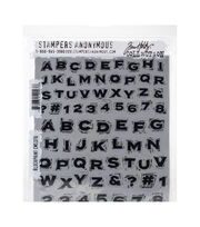 Tim Holtz Cling Stamps 7''X8.5''-Blockprint, , hi-res