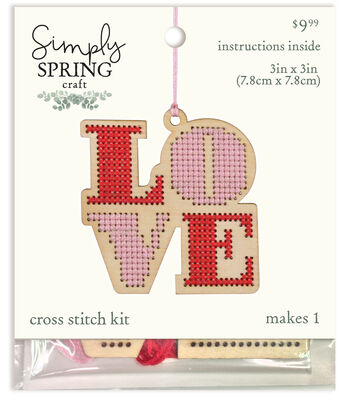 Simply Spring Craft Wood Stitch Kit-Spring Love