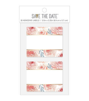 American Crafts Adhesive Labels-Floral Square