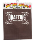 Attitude Artist Apron Brown-Crafting Therapy
