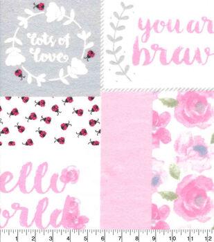 Nursery Flannel Fabric-Hazel Patchwork Flannel
