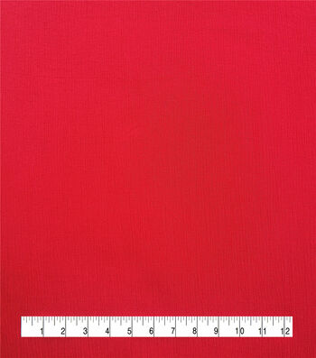 Silky Solids Crinkle Rayon Fabric-True Red