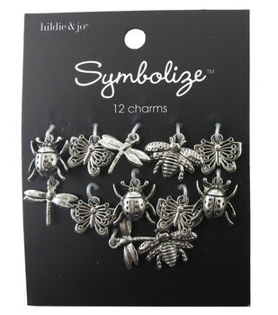 hildie & jo Symbolize 12 Pack Bug Silver Charms