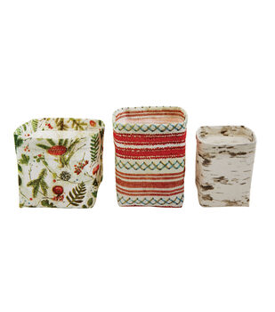 Christmas Canvas Printed Containers