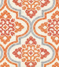 P/K Lifestyles Upholstery 8x8 Fabric Swatch-Lattice Imprint/Paprika