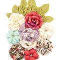 Prima Marketing Mulberry Paper Flowers-Garden Blooms/Midnight Garden