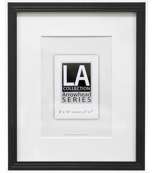 LA Collection Arrowhead Series Plastic Portrait Frame 8''x10''-Black