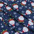 Christmas Cotton Fabric-Santa with Ornaments 2 Glitter