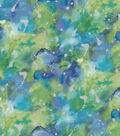 Premium Cotton Fabric 43\u0022-Watercolor Teal Pearl