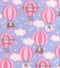 Nursery Cotton Fabric -Adventure Balloons