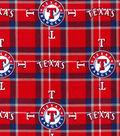 Texas Rangers Flannel Fabric 42\u0022-Plaid