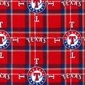 Texas Rangers Flannel Fabric-Plaid