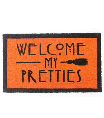 Maker's Halloween Coir Mat-Welcome My Pretties