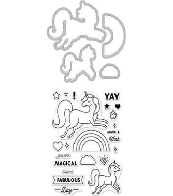 Hero Arts Stamp & Cut-Unicorn