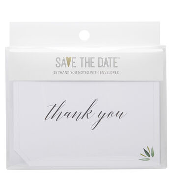 Greenery Thank You Cards 25ct
