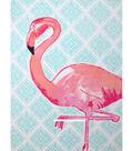 No-Sew Throw Fleece Fabric 72\u0022-Flamingo