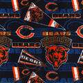Chicago Bears Fleece Fabric-Retro