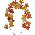 Blooming Autumn Rust & Burlap Maple Leaf Garland