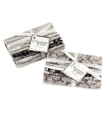 "Fat Quarter Bundle Cotton Fabric 18""-Grey"