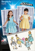 Simplicity Pattern 1171BB 4-5-6-7-8 -Toddlers