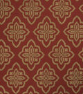 Jaclyn Smith Upholstery Fabric 53\u0022-Accurate/Scarlet