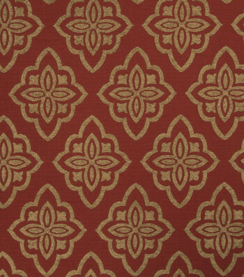 "Jaclyn Smith Upholstery Fabric 53""-Accurate/Scarlet"
