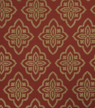 """Jaclyn Smith Upholstery Fabric 53""""-Accurate/Scarlet"""
