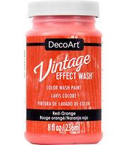 DecoArt Vintage Effect Wash 8 fl. oz. Color Wash Paint-Red Orange, , hi-res