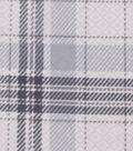 Anti-Pill Fleece Fabric 59\u0022-Patterned Plaid Gray