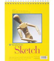 "Strathmore Sketch Spiral Paper Pad 9""X12""-100 Sheets, , hi-res"