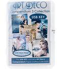 Debbi Moore USB Key Compendium Paper Craft Collection-Art Deco Vol. 3
