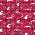 Washington State University Cougars Flannel Fabric-Tie Dye