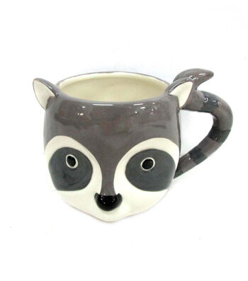 Simply Autumn Raccoon Critter Mug
