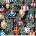 Christmas Cotton Fabric-Patriotic Musical Ornaments