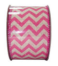Decorative Ribbon 2.5\u0027\u0027 X 15\u0027-Pink Chevron