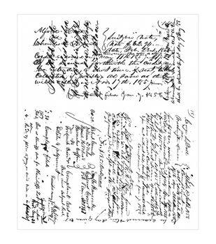 "Tim Holtz Cling Stamps 7""X8.5""-Ledger Script"