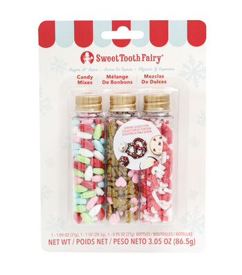 The Sweet Tooth Fairy Christmas 3 pk Candy Mixes-Sugar N' Spice