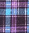 Anti-Pill Fleece Fabric -Blue & Purple Plaid