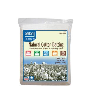 "Pellon Natural Cotton Batting-34""x45"""