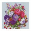 RIOLIS 15.8\u0027\u0027x15.8\u0027\u0027 Counted Cross Stitch Kit-Bouquet with Asters