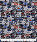 Snuggle Flannel Fabric-Dogs with Glasses & Bow Ties